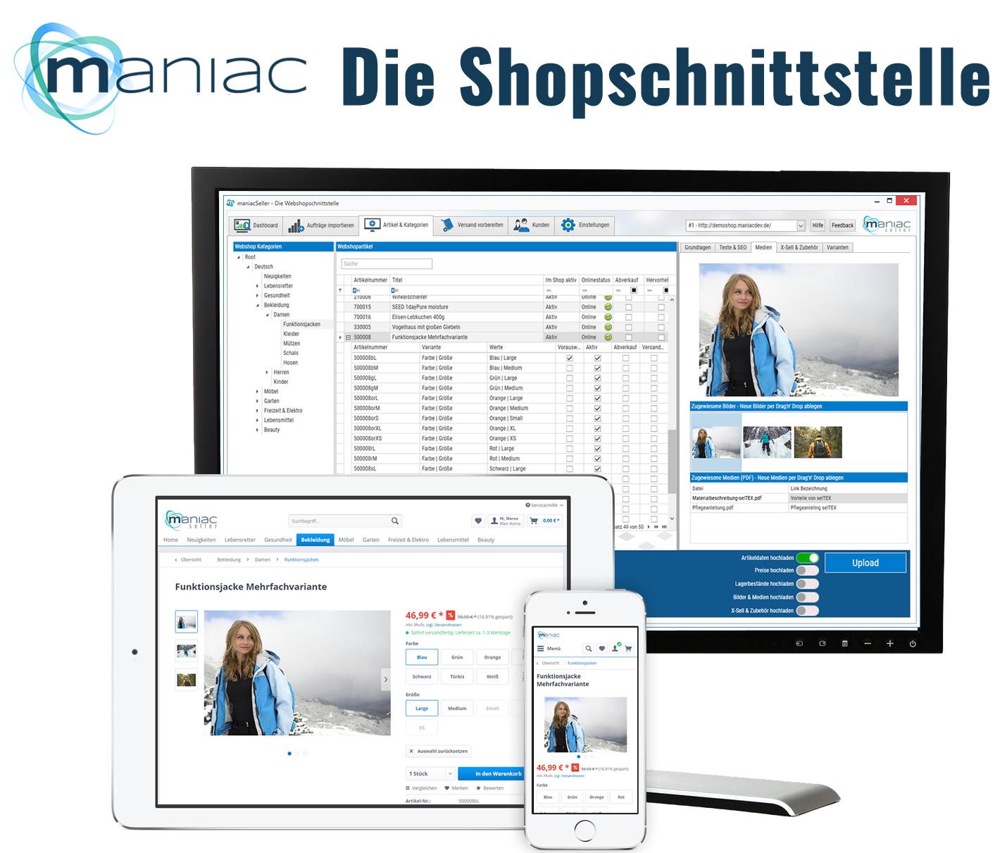 Sage 100 Shopware-Schnittstelle für erfolgreiche Onlinehändler - maniacSeller