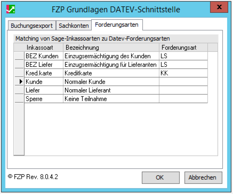 FZP DATEV-Schnittstelle Plus+